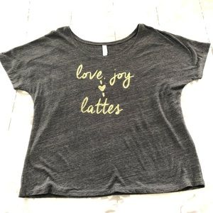 Love, joy, lattes shirt
